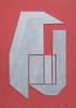 Gualtiero NATIVI - Pintura - Rilievo fondo rosso