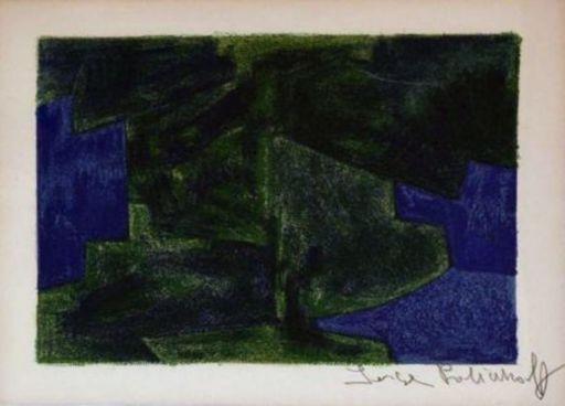 Serge POLIAKOFF - Estampe-Multiple - Composition bleue et verte n°41