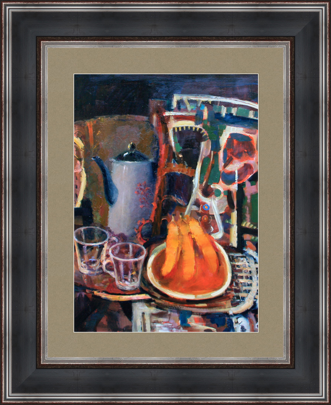 Levan URUSHADZE - Peinture - Still life with bananas