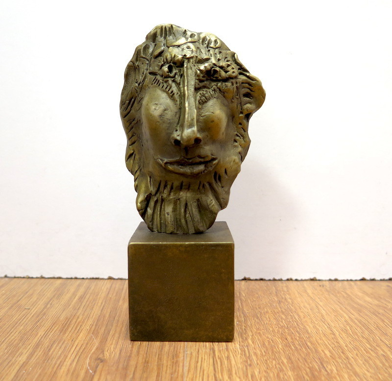 Blasco MENTOR - Sculpture-Volume - Tête d'homme barbu