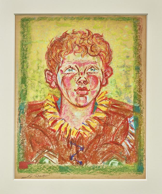 André MASSON - Zeichnung Aquarell - Portrait de Piere Matisse