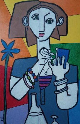Harry BARTLETT FENNEY - Peinture - la serveuse