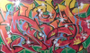 T-KID 170 - Peinture - T-KID 170 AINT NOTHIN BUT A PARTY YALL