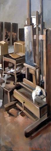 Christoff DEBUSSCHERE - Pintura - Le chevalet de Chalo