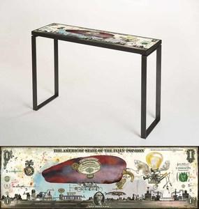 Bruno MALLART - Scultura Volume - The Americof Flyin' poivron (console)