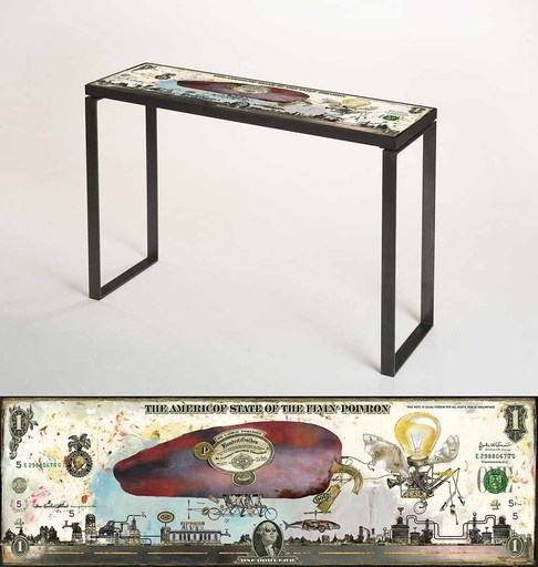 Bruno MALLART - Scultura Volume - The Americof Flyin' poivron (console)