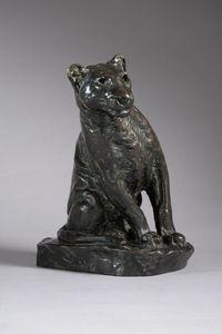 Roger GODCHAUX - Skulptur Volumen - LIONNE AUX AGUETS
