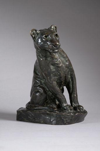 Roger GODCHAUX - 雕塑 - LIONNE AUX AGUETS