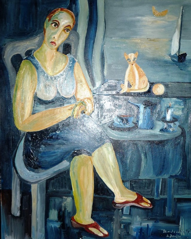 Sandra DOOLEY - Pittura - De Noche en Santa Fe (A night in Santa Fe)