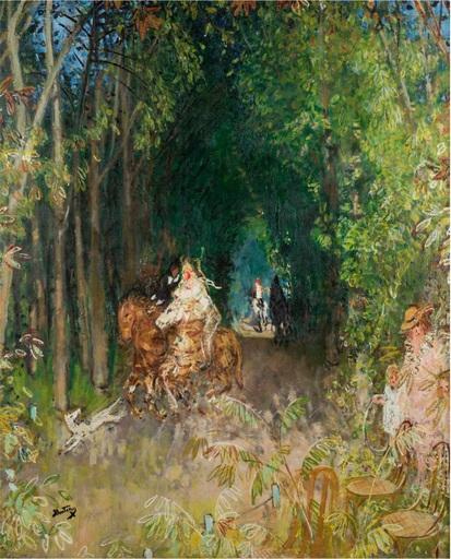Pierre Eugène MONTEZIN - Painting - Allée cavalière