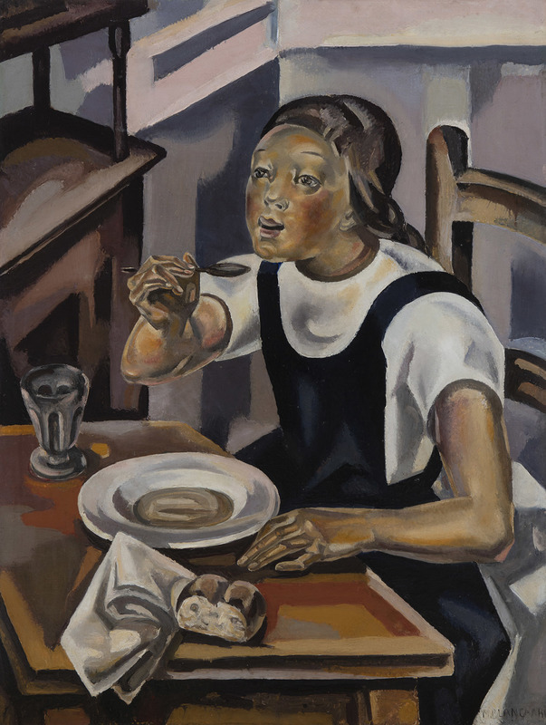 María BLANCHARD - Painting - La fillette à la soupe