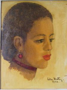 Gill-Julien MATTHEY - Painting - Princesse Lalla Malika
