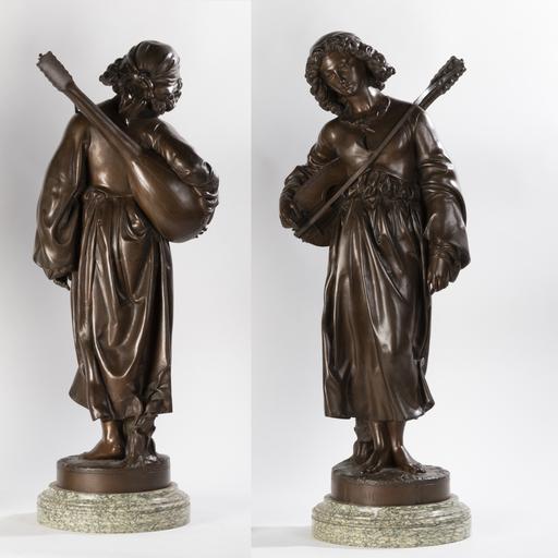 Alexandre FALGUIERE - Sculpture-Volume - Alexandre Falguière (1831-1900), Mignon, XIXe