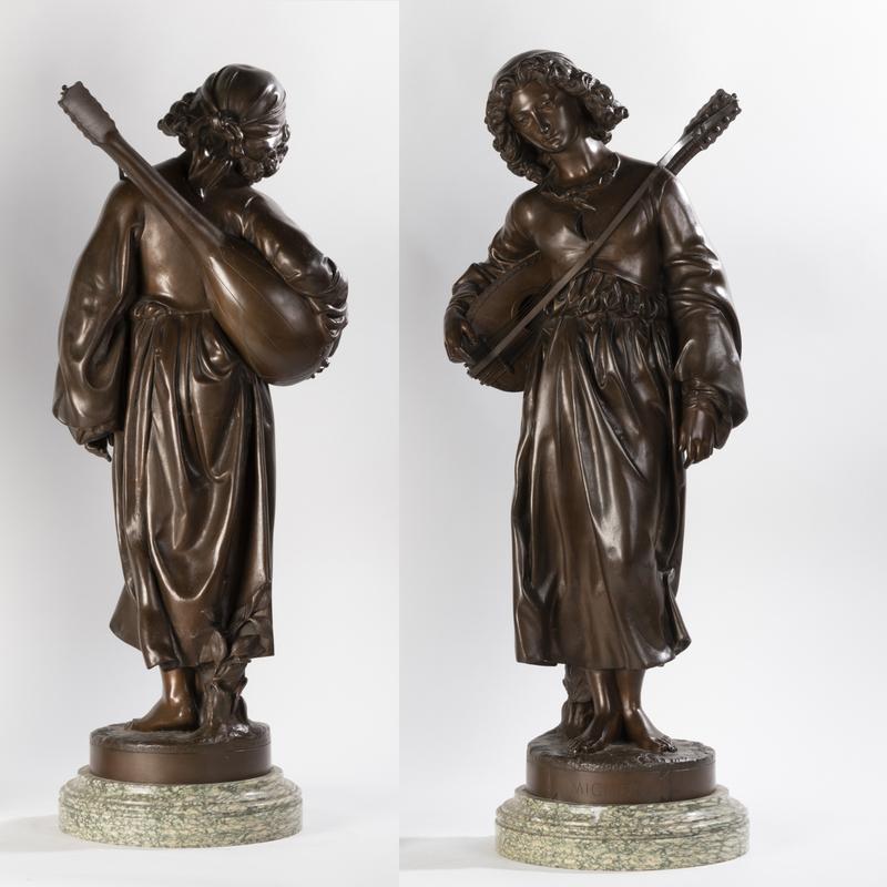 Alexandre FALGUIERE - Escultura - Alexandre Falguière (1831-1900), Mignon, XIXe
