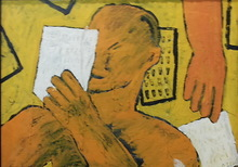 Jorge CABEZAS - Painting - lector