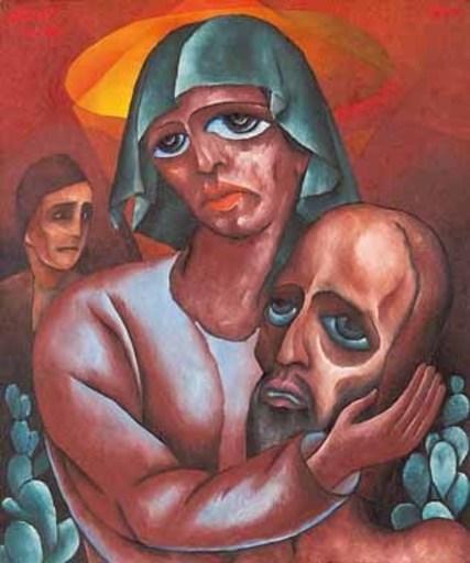 Aloys WACH - 绘画 - Pietà
