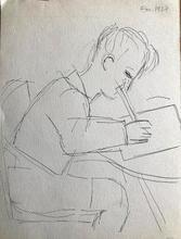 Marcel GROMAIRE - Dibujo Acuarela - Portrait of François Gromaire