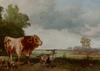 "Gustav RANZONI - Painting - ""Herd Coming Home"", Oil"