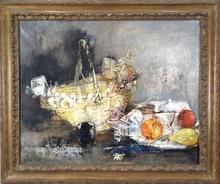 Jean JANSEM - Pintura - Still Life with Basket