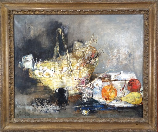Jean JANSEM - Painting - Still Life with Basket