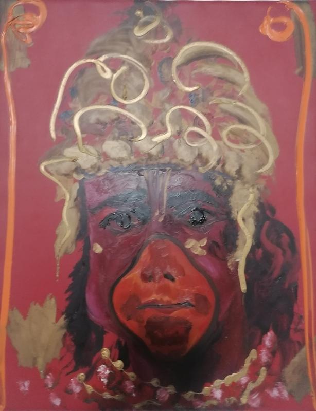 Aldo MONDINO - Peinture - uomo scimmia