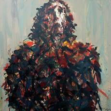 Max UHLIG - Painting - Kleine Bildnis-Studie F.U.