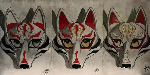 BATLI - Painting - Kabuki Fox