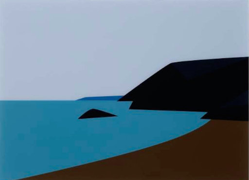 Julian OPIE - Print-Multiple - Cornish Coast 2.: Lantic Bay