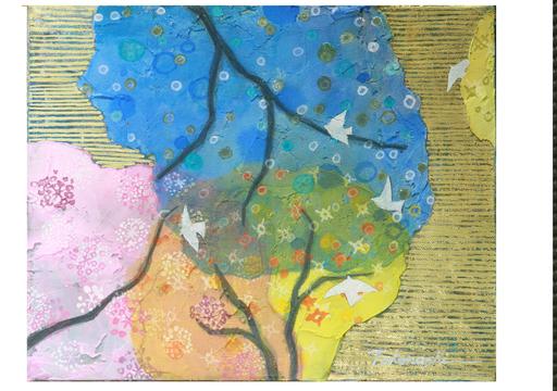 Miyuki TAKANASHI - Gemälde - Forest Telling Spring