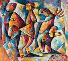 Serge DEHERIAN - Painting - Circus