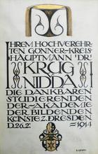 Bruno GIMPEL - Pintura - Hauptmann Dr KRUG von NIDDA
