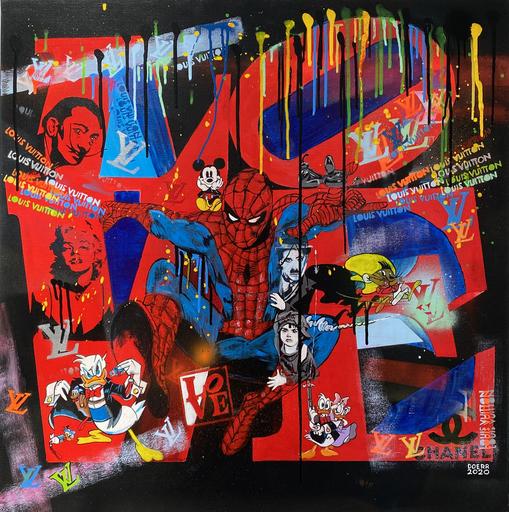 Dominique DOERR - Peinture - Spiderman