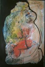 Bernard MOREL - Pintura - PEINTRE ET MODELE