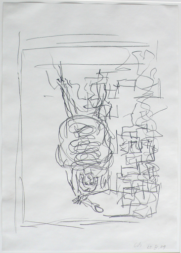 Georg BASELITZ - Dibujo Acuarela - Untitled (Figure)