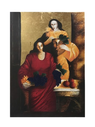 Andreas CHARALAMBIDES - Stampa-Multiplo - Grapes Autumn