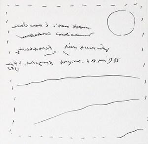 Pierre ALECHINSKY, « Paysage miroir minimaliste »