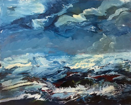 Vittorio BELLINI - Gemälde - Pensieri sul mare, Bretagna, Francia, 2001