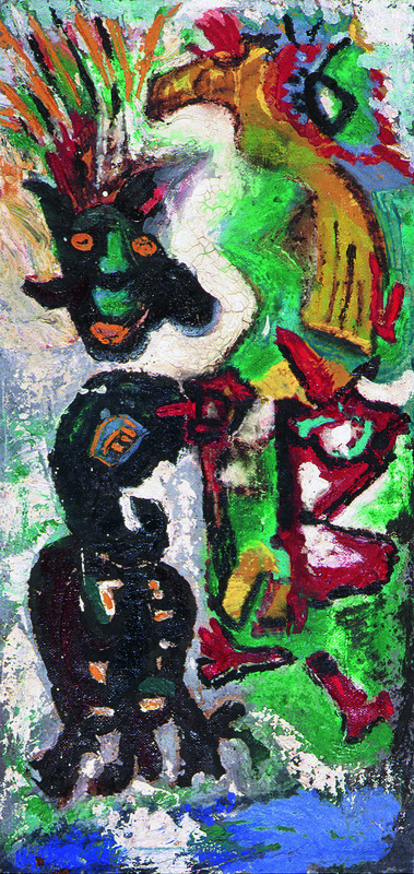 Pinot GALLIZIO - Pittura - GERUNDIO IMMAGINATO - 1956