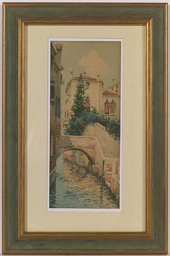 Natale GAVAGNIN - Drawing-Watercolor - Venice, Watercolor, late 19th Century