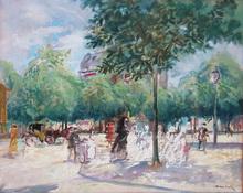 Emilio GRAU-SALA - Painting - BOULEVAR DE PARIS