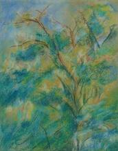 Max LIEBERMANN - Drawing-Watercolor - Study of a Tree Canopy | Studie einen Baumkrone