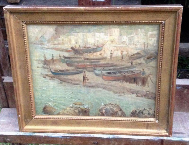 Gaston Veuvenot LEROUX - Pintura - Paisaje costero
