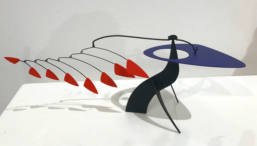 """Manuel MARÍN - Sculpture-Volume - Mini-Stabile """"Blue Headed Bird with Red Feathers"""""""