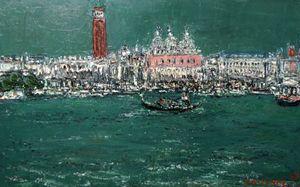 André COTTAVOZ - Peinture - Venise