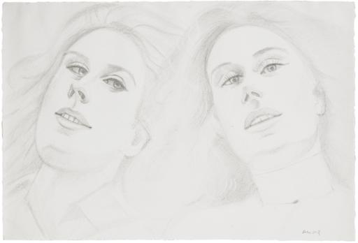 Alex KATZ - Drawing-Watercolor - senza titolo