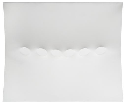 Turi SIMETI - Gemälde - Sei ovali bianchi / Six White Ovals