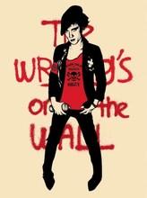"Shepard FAIREY - Grabado - ""Writing on the wall"" (cream)"