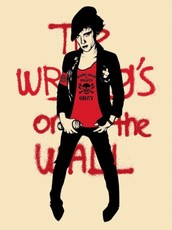 """Shepard FAIREY - Estampe-Multiple - """"Writing on the wall"""" (cream)"""