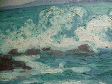 Jean PESKÉ - Painting - La Vague