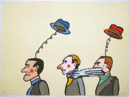 Antonio SEGUI - Stampa-Multiplo - Les chapeaux